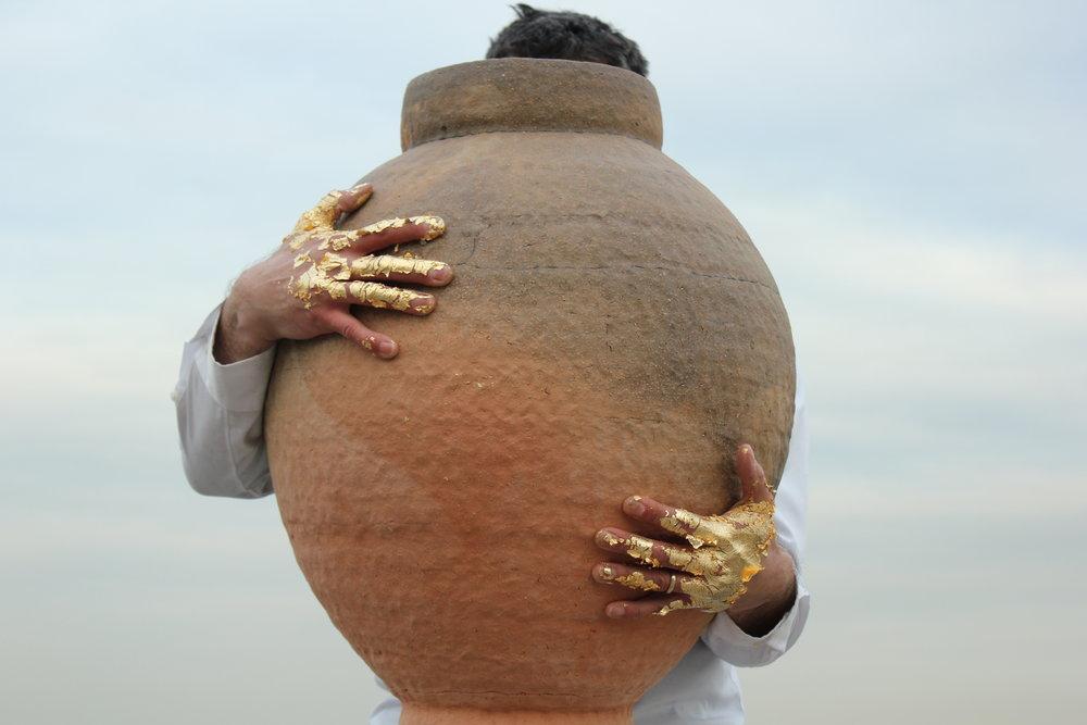 my back -