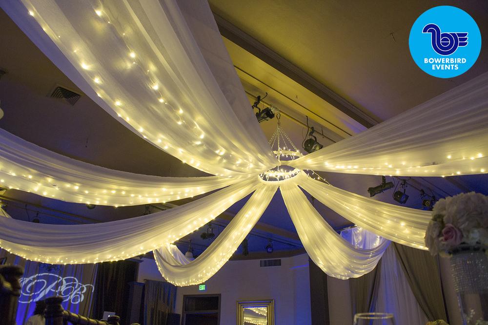 Fabric ceiling treatment.