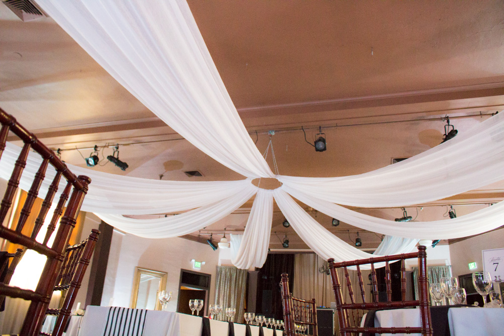 Ceiling swags @ The West End Ballroom