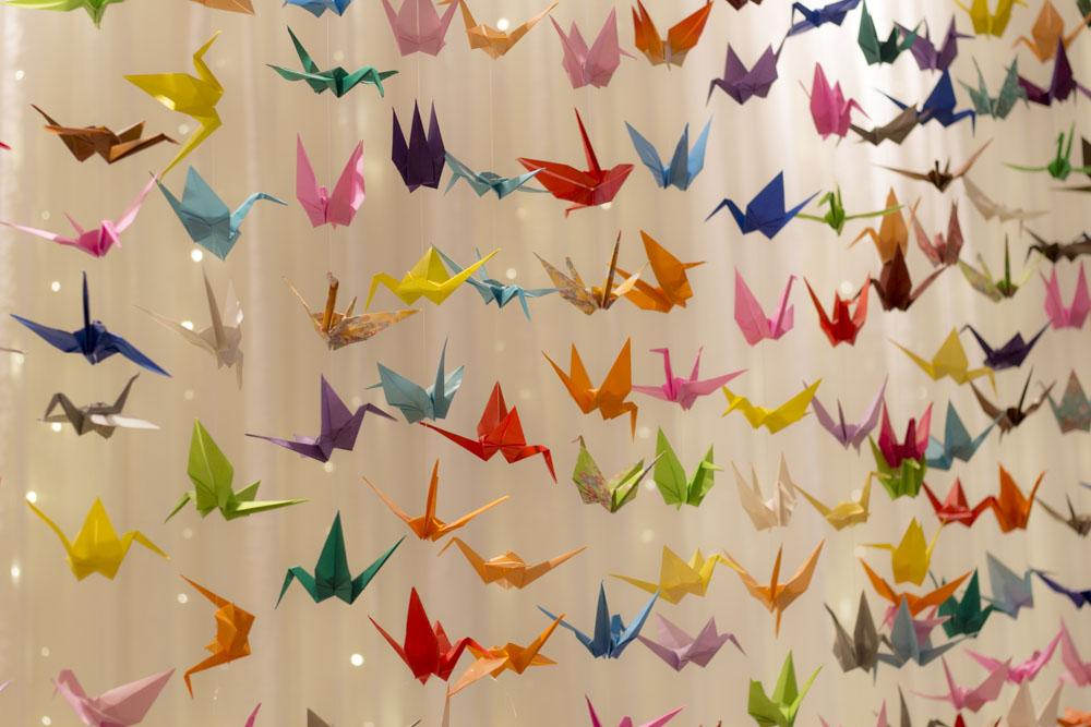 1000 origami crane backdrop