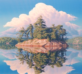 """Reflection, Wolf Lake"""