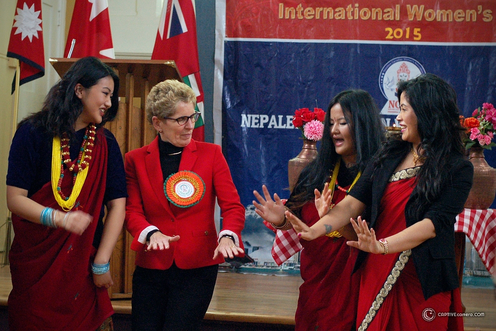 Kathleen Wynne Dances with Nepalese Canadian Women's Association
