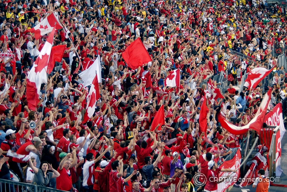 Canada is not without passionate supporters as seen during FIFA friendly match Canada vs. Ecuador in 2011.