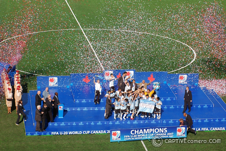 Argentina were crowned champions of 2007 FIFA Under 20 World Cup after defeating Czech Republic 2-1.