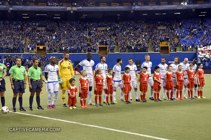 Montreal, Canada - April 29, 2015: Montreal Impact starting eleven.