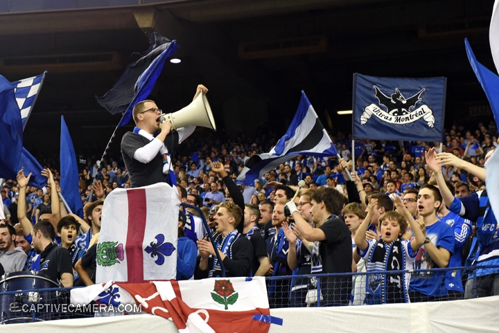 Montreal, Canada - April 29, 2015: CAPO for Montreal Impact supporter group Ultras Montreal.