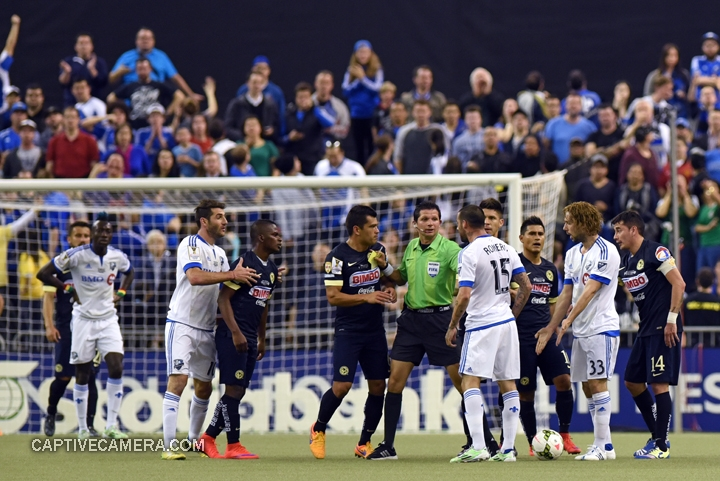 Montreal, Canada - April 29, 2015: Tensions were high as Montreal Impact maintained the 1-0 lead in the first half.