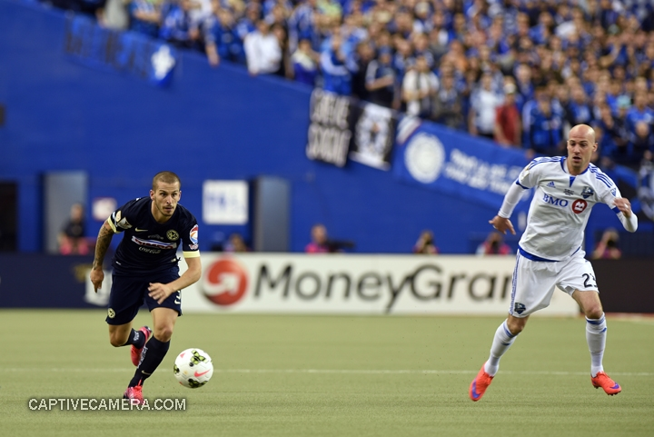 Montreal, Canada - April 29, 2015: Dario Benedetto #9 of Club America was very effective during the second half.