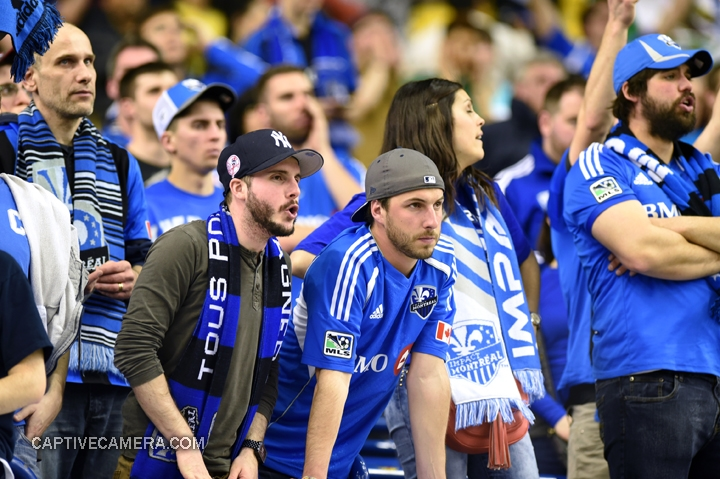 Montreal, Canada - April 29, 2015: Montreal impact fans look dejected after suffering the 4-2 defeat.