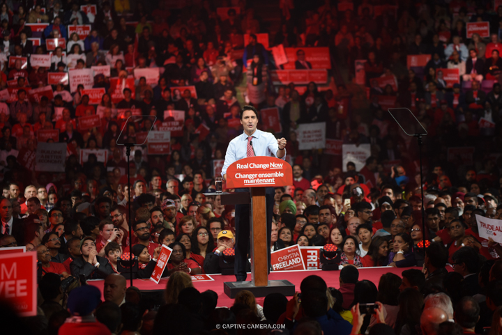 Justin Trudeau will become Prime Minister of Canada as the Liberal Party wins vote majority.   Justin Trudeau at Liberal party rally in Brampton, Ontario on October 4, 2015.
