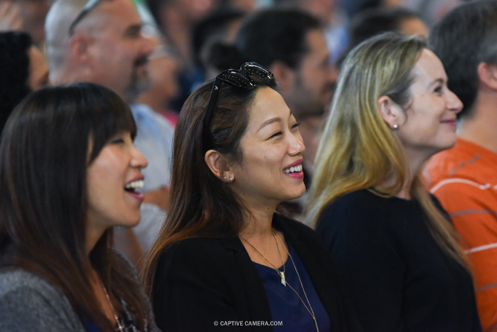 Sept 19, 2015 (Toronto, ON) - Laughing audience at Toronto Food and Wine Festival.