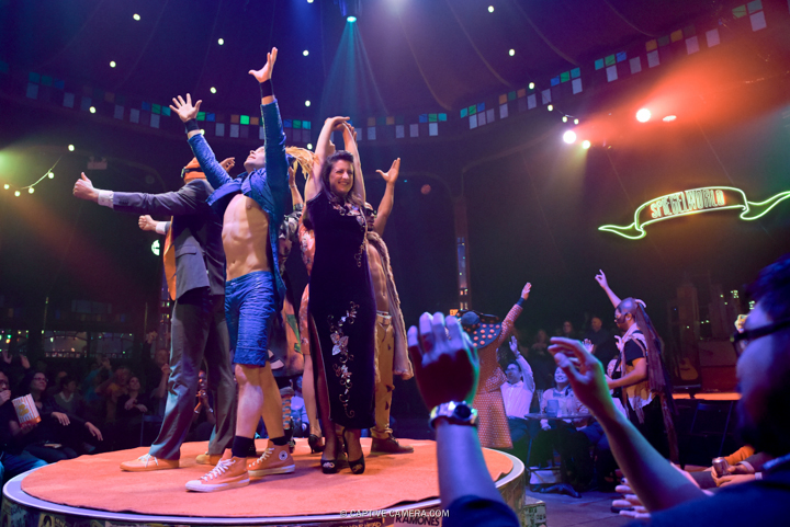 Oct. 1 2015 (Toronto, ON) - The performers of Spiegelworld Empire kick off the show to applause from the audience.
