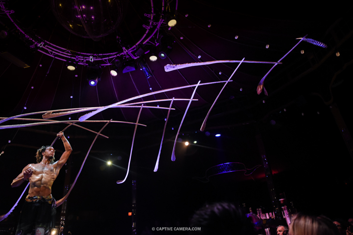 Oct. 1 2015 (Toronto) - Andreis Jacobs is the master of control at Spiegelworld Empire.