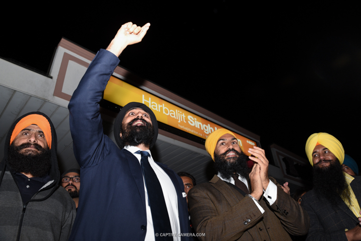 Oct. 13, 2015 (Brampton, ON) - Brampton East NDP candidate Harbaljit Singh Kahlon alongside NDP deputy leader Jagmeet Singh during Thomas Mulcair's visit.