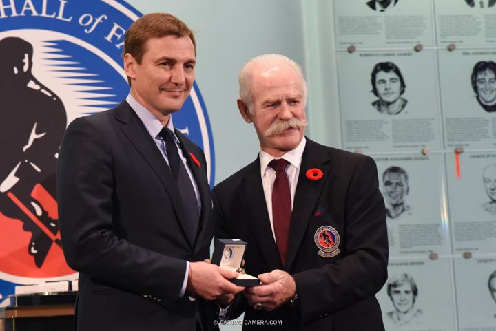 Nov. 6, 2015 (Toronto, ON) - Sergei Federov is inducted into the Hockey Hall of Fame by Chairman Lanny McDonald.