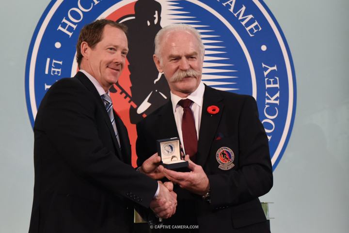 Nov. 6, 2015 (Toronto, ON) - Phil Housley is inducted into the Hockey Hall of Fame by Chairman Lanny McDonald.