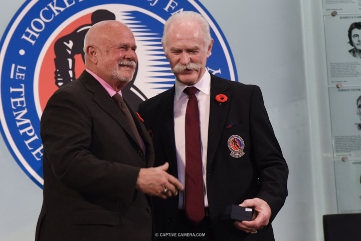 Nov. 6, 2015 (Toronto, ON) - Peter Karmanos Junior is inducted into the Hockey Hall of Fame by Chairman Lanny McDonald.
