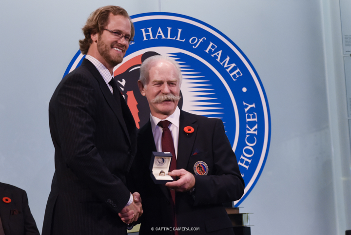 Nov. 6, 2015 (Toronto, ON) - Chris Pronger is inducted into the Hockey Hall of Fame by Chairman Lanny McDonald.