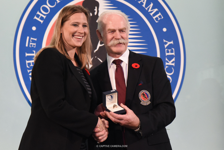 Nov. 6, 2015 (Toronto, ON) - Angela Ruggiero is inducted into the Hockey Hall of Fame by Chairman Lanny McDonald.