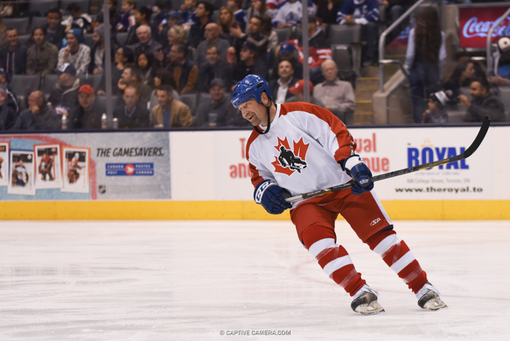 Nov. 8, 2015 (Toronto, ON) - Wendel Clarke of  Team Gilmour during the Haggar Hockey Hall of Fame Legends Classic at Air Canada Centre.