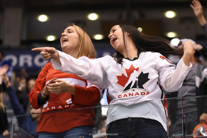 Nov. 8, 2015 (Toronto, ON) - Team Canada fans during the Haggar Hockey Hall of Fame Legends Classic at Air Canada Centre.