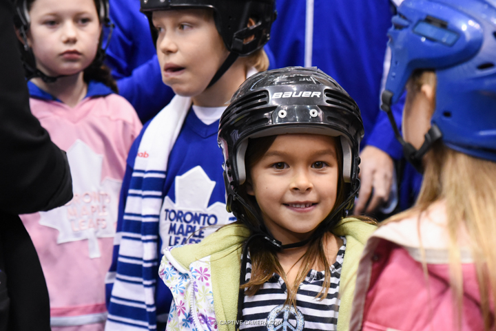 Nov. 8, 2015 (Toronto, ON) - Young fans during the Haggar Hockey Hall of Fame Legends Classic at Air Canada Centre.
