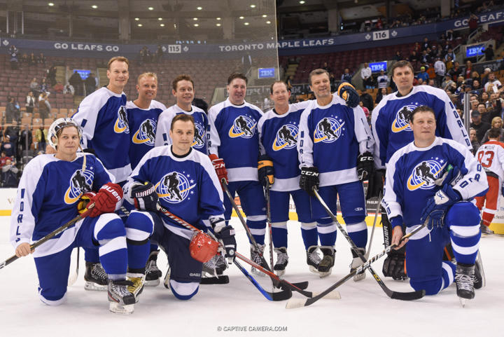 Nov. 8, 2015 (Toronto, ON) - Team Bure during the Haggar Hockey Hall of Fame Legends Classic at Air Canada Centre.