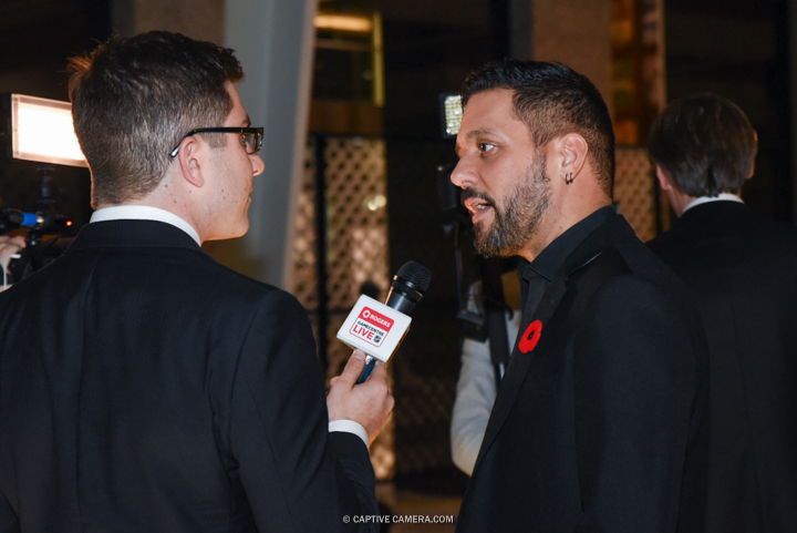 Nov. 9, 2015 (Toronto, ON) - NHL commentator George Stroumboulopoulos on the red carpet to the Hockey Hall of Fame induction ceremony at Brookfield Place, downtown Toronto.