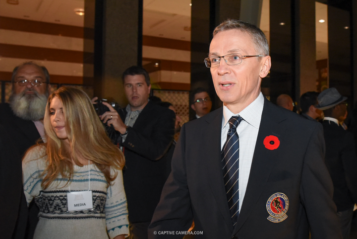 Nov. 9, 2015 (Toronto, ON) - Former NHL player Igor Larionov on the red carpet to the Hockey Hall of Fame induction ceremony at Brookfield Place, downtown Toronto.