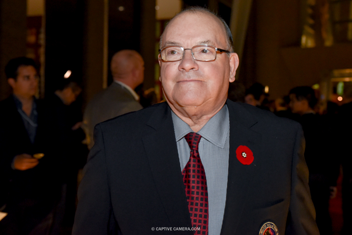Nov. 9, 2015 (Toronto, ON) - Former NHL coach Scotty Bowman on the red carpet to the Hockey Hall of Fame induction ceremony at Brookfield Place, downtown Toronto.