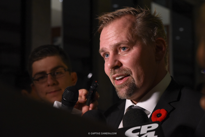 Nov. 9, 2015 (Toronto, ON) - Former NHL player Tomas Holmstrom on the red carpet to the Hockey Hall of Fame induction ceremony at Brookfield Place, downtown Toronto.
