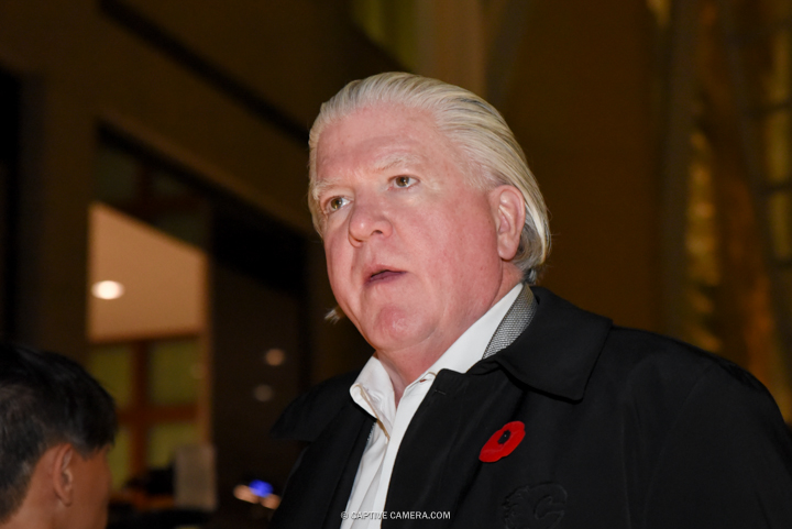 Nov. 9, 2015 (Toronto, ON) - NHL manager Brian Burke on the red carpet to the Hockey Hall of Fame induction ceremony at Brookfield Place, downtown Toronto.