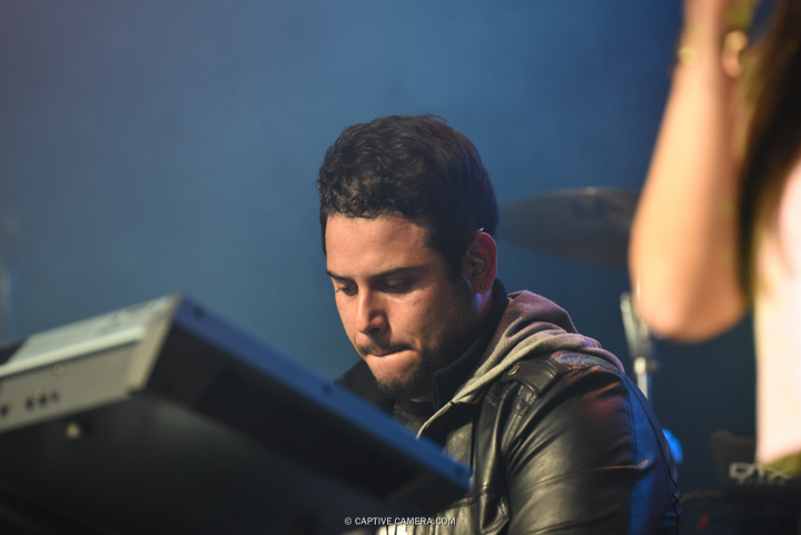 Nov. 21, 2015 (Toronto, ON) - Keyboardist of Venezuelan duo Chino & Nacho during their performance at Sound Academy.