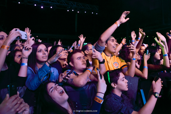 Nov. 21, 2015 (Toronto, ON) - Fans of Venezuelan duo Chino & Nacho during their performance at Sound Academy.