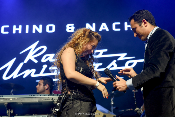 Nov. 21, 2015 (Toronto, ON) - Carlos Montoya and Elizabeth Bravo with Venezuelan duo Chino & Nacho during their performance at Sound Academy.