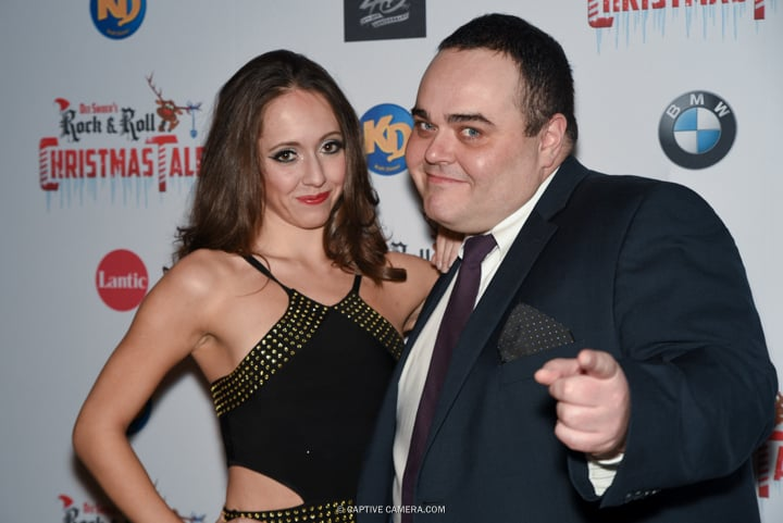 Cast members Lexi Soha and Josh Murray  at the red carpet premiere of Dee Snider's Rock and Roll Christmas Tale at Winter Garden Theatre in Toronto on November 9, 2015.