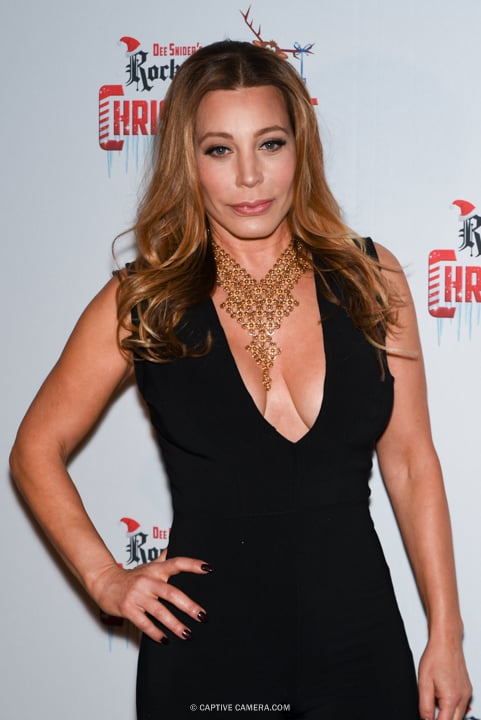 Singer and co-star Taylor Dayne at the red carpet premiere of Dee Snider's Rock and Roll Christmas Tale at Winter Garden Theatre in Toronto on November 9, 2015.