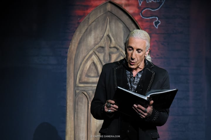 Opening scene of Dee Snider's Rock and Roll Christmas Tale at Winter Garden Theatre in Toronto on November 9, 2015.