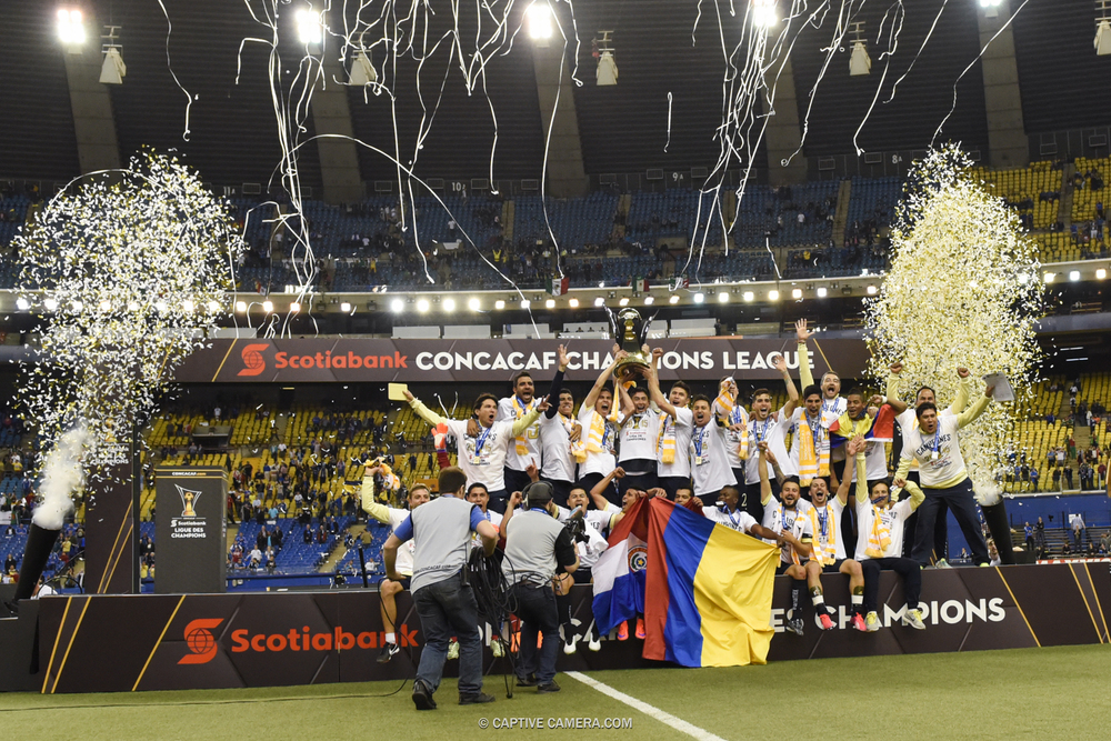 CLUB AMERICA CELEBRATES CONCACAF CHAMPIONS LEAGUE CHAMPIONSHIP