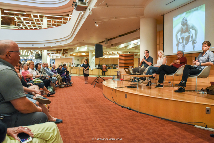 Toronto Star photographers at The Power of the Portrait panel at Toronto Reference Library Atrium on June 23, 2016. (Photo: Jaime Espinoza / Captive Camera)