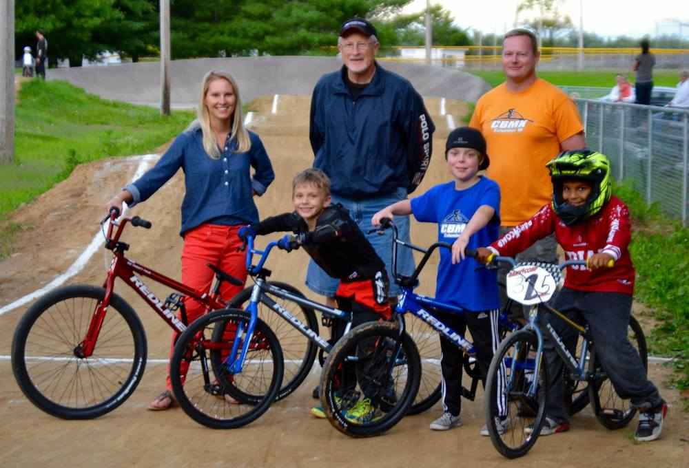 New 2015 Redline MX series bikes and new Fly Default helmets were provided to CBMX for our loaner program through a grant from the Bartholomew County REMC and Operation Roundup.