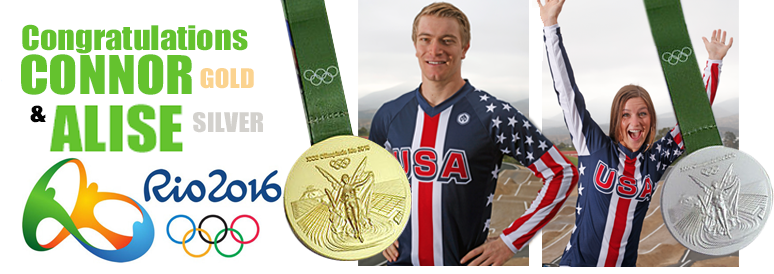 BMX is an Olympic sport! Connor Fields won gold and Alise Post won silver for Team USA in Rio!