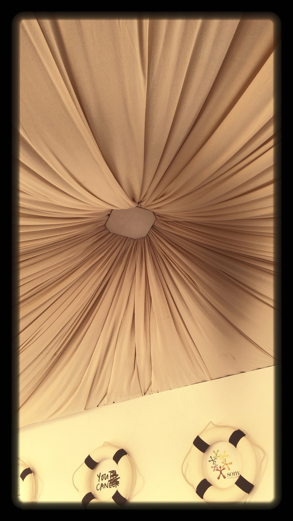 Ceiling drapes- Marquee