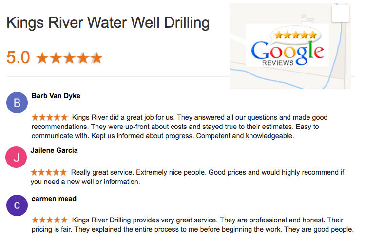 We are a TOP Well Drilling Contractor. We have been interviewed which included a complete check of our license, insurance, complaint status, and even calls to previous clients to verified that they are very satisfied with our service.