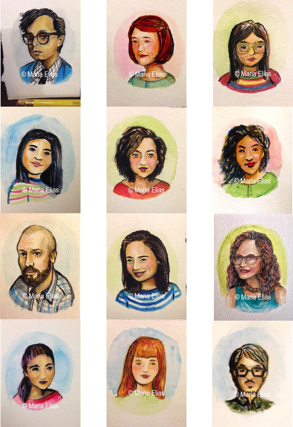 Watercolor Miniatures Series I