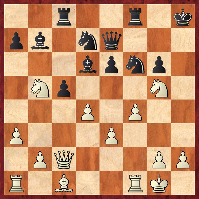 Position after 16. Qe7