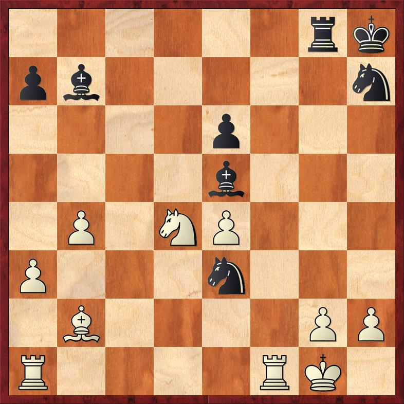 Position after 27. ... Nxe3