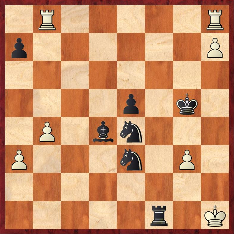 Final Game Position after 41. ... Rf1
