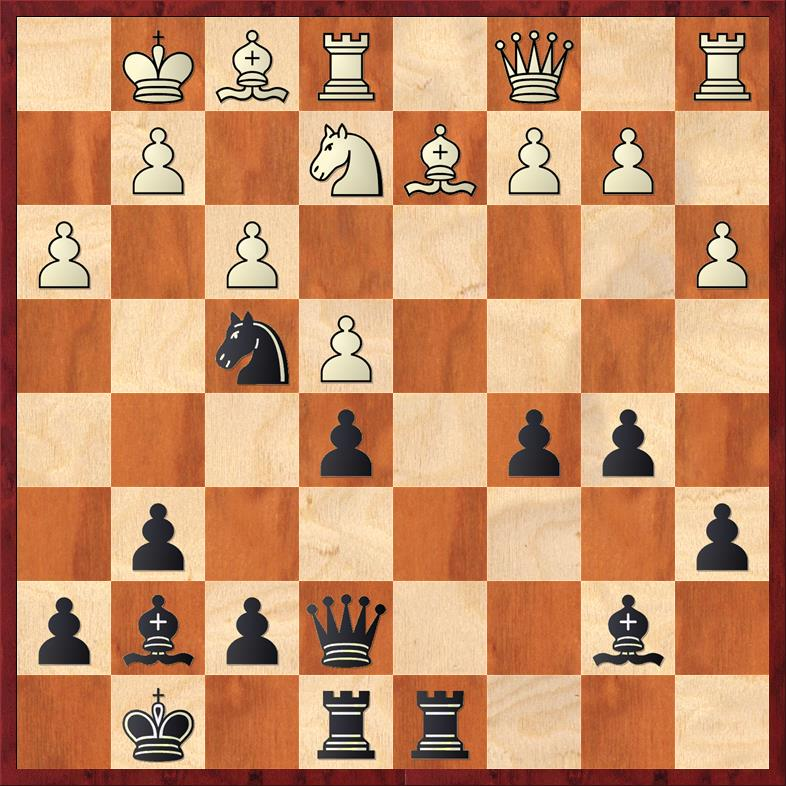 Position after 21. Ne2