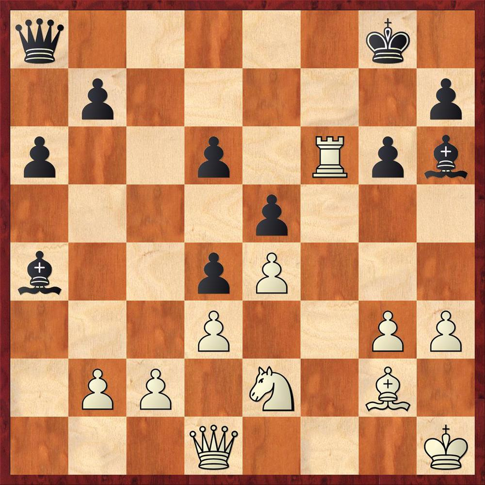 Final positon after 24. Rxf6